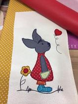 Kinderrucksack mit Hase mit Blume