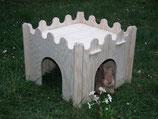 Praktisches großes Hasen Zwerg Kaninchen Haus zerlegbar Kaninchenburg aus Holz
