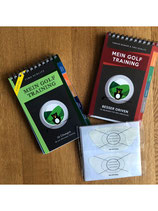 Beide Bücher von Mein Golf Training + Impact Tapes (40 Stück)