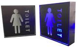 LED Schild EXIT - Damen & Herren WC- Abfall - Rauchen verboten