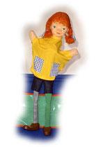 2012 rothaariges Mädchen mit Bein aus Holzmasse
