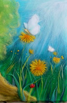 "Serie ""Blumen und Landschaften"" - papillons et fleurs"