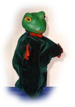 3304 Frosch (Kasperlepuppe aus Holzmasse)
