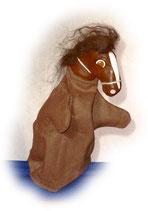 3309.4 Pferd braun (Kasperlepuppe aus Holzmasse)