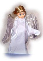 2239.1 Engel mit langen Haaren aus Holzmasse (ohne Beine)