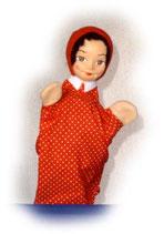 2214 Rotkäppli aus Holzmasse (ohne Beine)