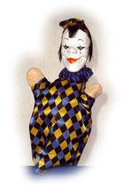 2236 Pierrot aus Holzmasse (ohne Beine)