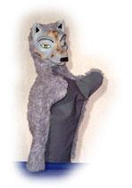 3302 Wolf (Kasperlepuppe aus Holzmasse)