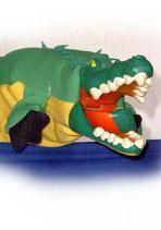 3313 Krokodil (Kasperlepuppe aus Holzmasse)