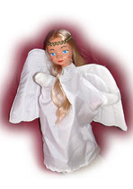 4414 Engel mit langem Haar (aus Hartkunststoff)