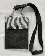 DAS Handy Bag mb Straussen schwarz/Zebra