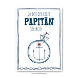 """""""Papitän"""" - Postkarte"""