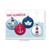 """""""Weihnachtskugeln"""" - Postkarte"""