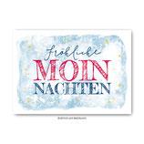 """""""Fröhliche Moinnachten"""" - Postkarte"""