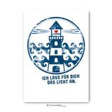"""Postkarte """"Licht anlassen"""""""