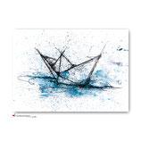 "Postkarte ""Papierboot ART"""