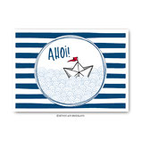"""""""Ahoi Boot"""" - Postkarte"""