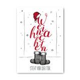 """""""Weihnachten steht vor der Tür"""" - Postkarte"""