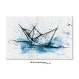 Papierboot Art, Flächenmagnet 68*44 mm