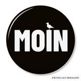 Moin, schwarz, Button 38 mm