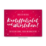 """""""Kartoffelsalat und Würstchen"""" - Postkarte"""
