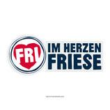 """""""Im Herzen Friese"""" - Aufkleber, Schrift blau"""