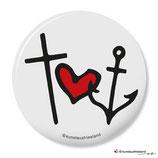 Glaube Liebe Hoffnung, Button 25 mm