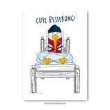 """""""Gute Besserung"""" - Postkarte"""