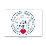 """Campingliebe"" - Postkarte"