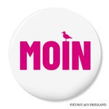 Moin, pink, Button 38 mm