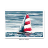 """Segelboot"" - Postkarte"