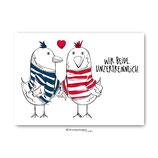 """""""Unzertrennlich"""" - Postkarte"""