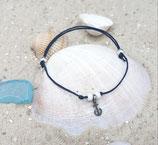 Minianker, filigranes Armband, Farbe blau