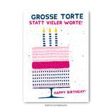 """""""Geburtstagstorte"""" - Postkarte"""