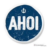 Ahoi, blau, Button 25 mm