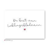 """Postkarte """"Lieblingsblödmann"""""""
