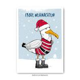 """Weihnachtsmöwe"" - Postkarte"