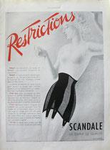 Scandale, lingerie, 1941