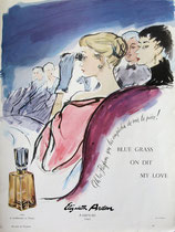 Elizabeth Arden, On Dit (Blue Grass, My Love), 1950s (French perfume advert)