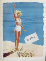Kestos, ladies swimwear, 1948