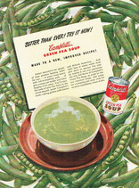 Campbell's Green Pea Soup, 1947
