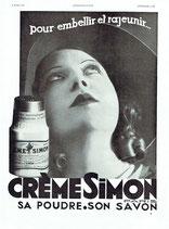 Creme Simon, 1932 (French advert)