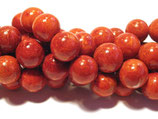 Schaumkoralle, rund, glatt, ca. 12mm
