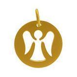 Schutzengel - Anhänger aus 925 Silber matt vergoldet
