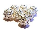 Mit Kügelchen verzierte Perle aus 925-Silber