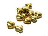Herzperle gebürstet 925-Silber vergoldet