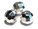 Facettierte Perle aus 925-Silber 15 mm