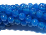 Blauer Achat, rund, glatt, ca. 10 mm