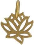Lotusblüte Anhänger filigran 925-Silber, Mattvergoldet