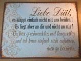 """Metallschild """"Diät"""""""